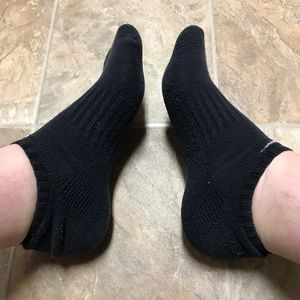 Nike ankle socks (black)